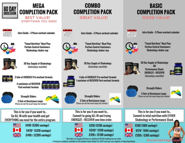 80DAY completion packs